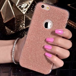 Accessories - Rose Gold Glitter Soft iPhone Case Various Sizes